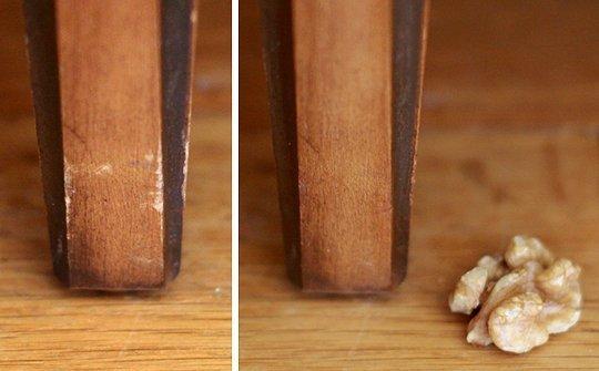 Repairing Furniture Nicks with a Walnut