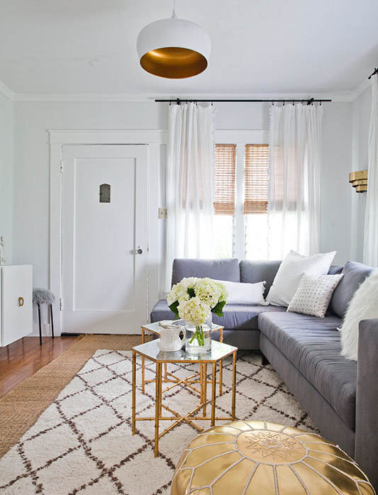 A Living Space with Hints of Gold – Get This Look for Less in NYC