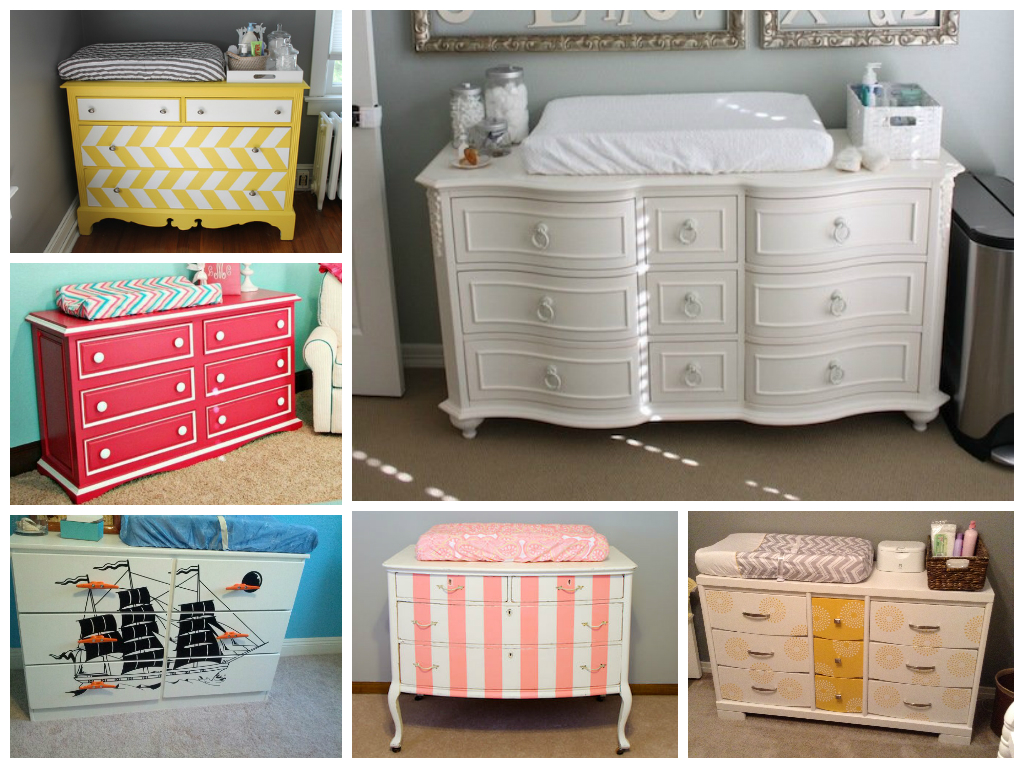 convert a dresser into a changing table diy project at home with aptdeco. Black Bedroom Furniture Sets. Home Design Ideas