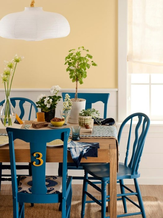 Mismatched Blue Chairs Aptdeco Dining Room Furniture Used Nyc