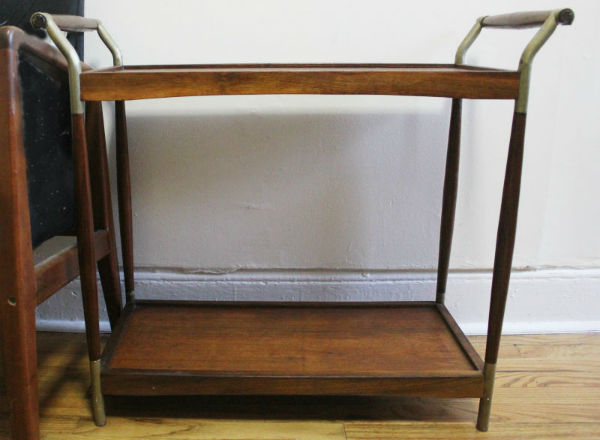 Empty Vintage Bar Cart