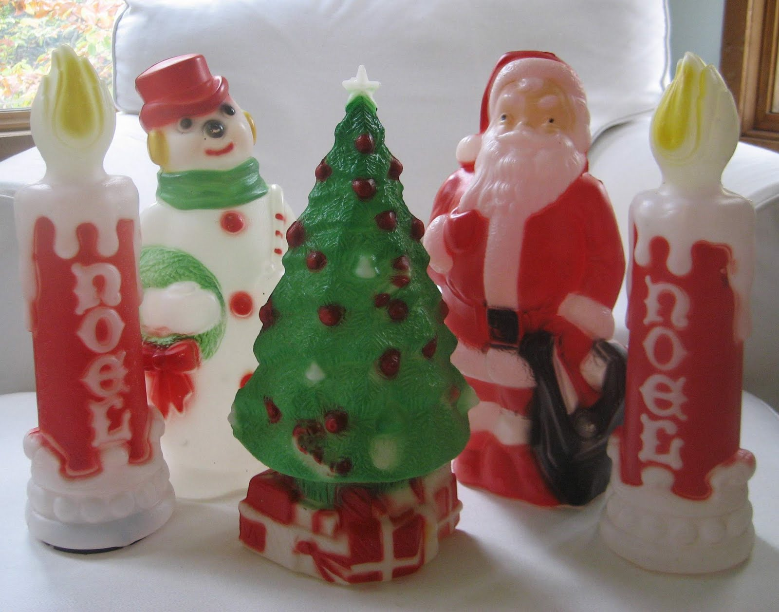 christmas blow molds decor holidays winter aptdeco nyc - Christmas Blow Mold