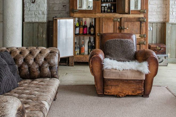 Easily Create This Rustic Living Room