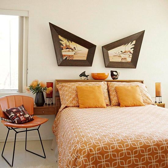 Theory of Everything Retro Orange Bedroom