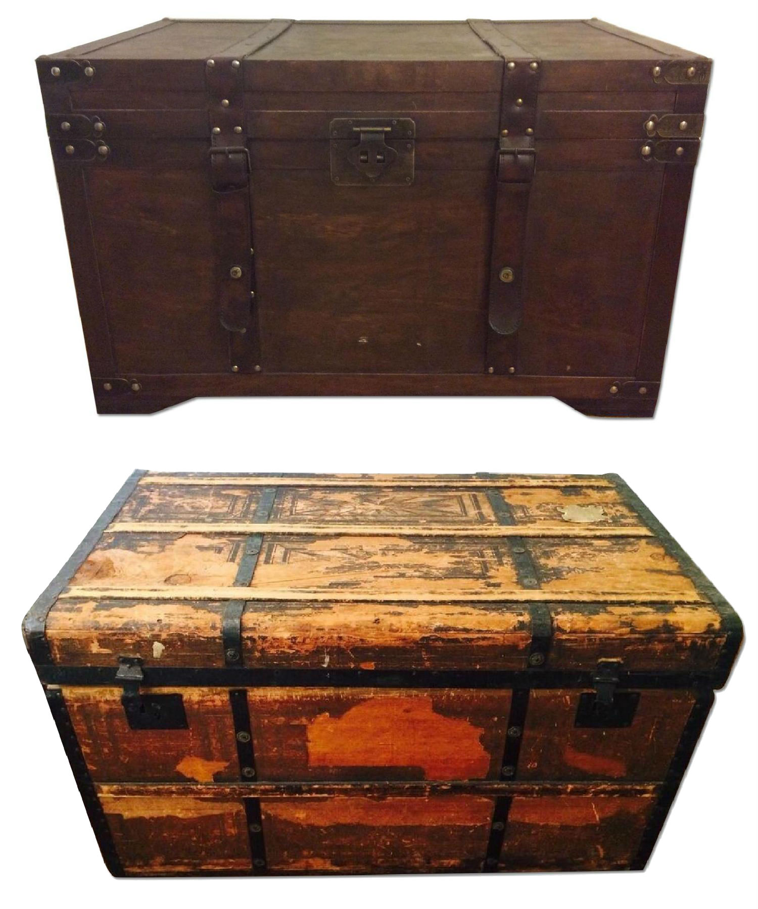 Vintage Military Trunks for Home