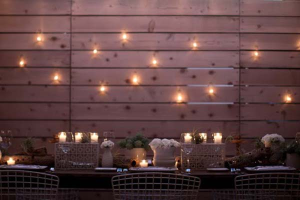 Wedding Candles on a Wall