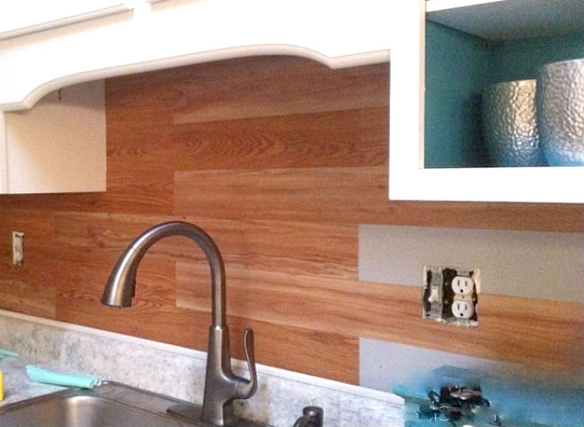 Wood Plank Backsplash