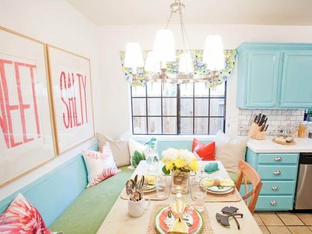Bright Colorful Kitchen Nook