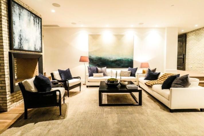 Emily Blunt and John Krasinski's living room