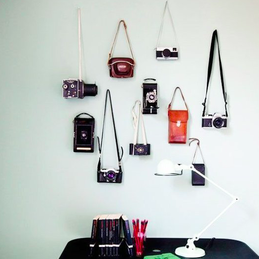 Home decor trends - camera wall collection