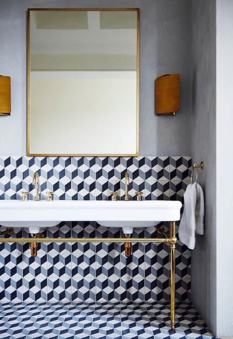 Home decor trends 2016 - geometric tiles