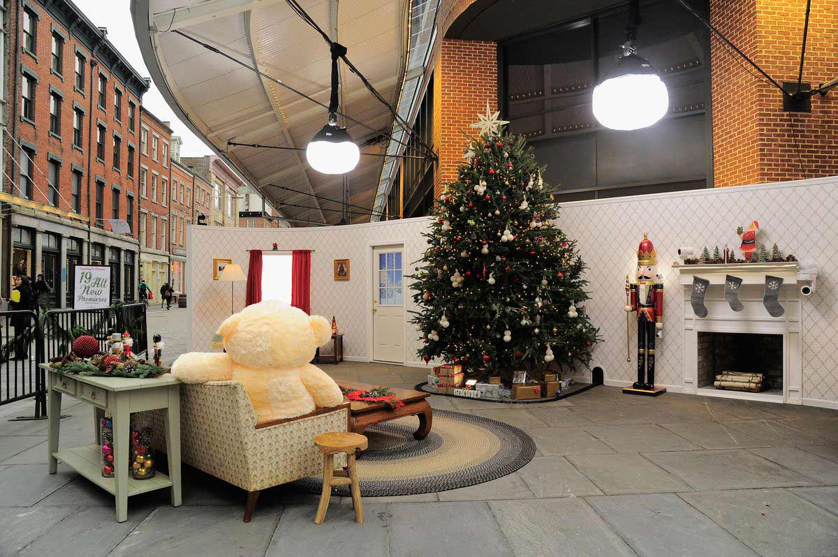 Christmas space decorated by Rachel Montgomery Paupeck