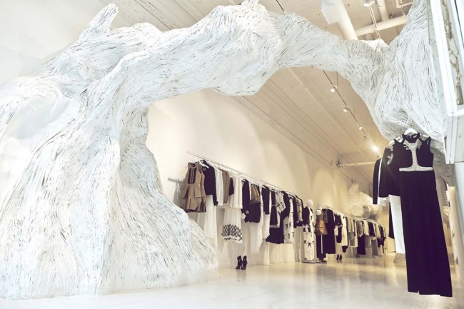 Store Decorated by Rachel Montgomery Paupeck - unusual material