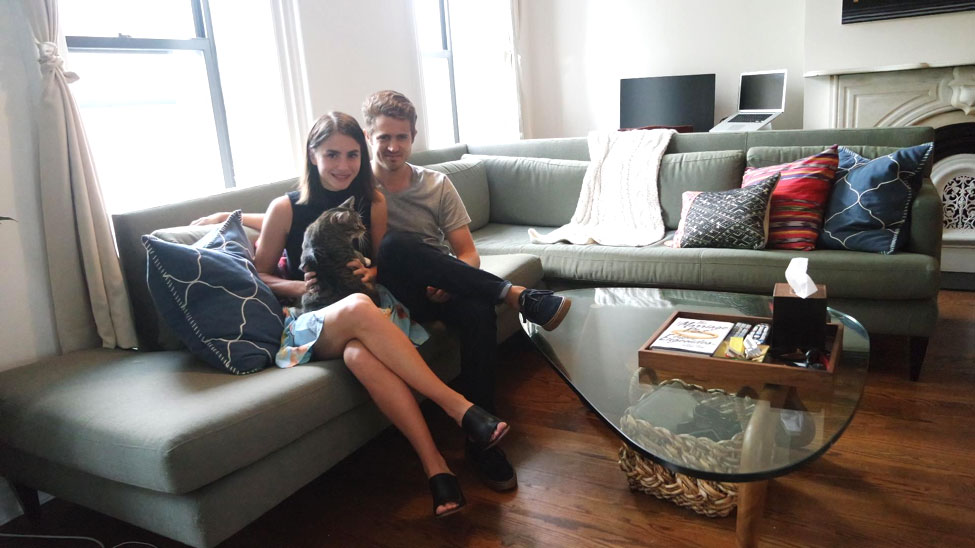 Couple on the Run: Lauren & Craig's Park Slope Apartment