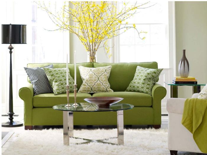 greenery - green sofa