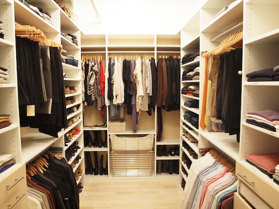 closet organized by Jeffrey Philip