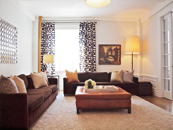 Upper West Side living room styled by Jeffrey Phillip